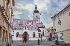 Saint Mark's Cathedral in Zagreb (Yvan Rouxel) Tags: churchofstmark cityofzagreb croatia january saintmarkschurch stmarkschurch wpcroatia winter zagreb hrv