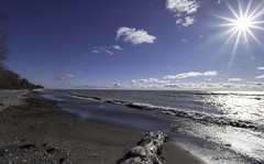 Wicklow Beach 2019-01-16_B (G. Maxwell) Tags: zuiko winter waves water snow wicklowbeach presquille ontario lakeshoreroad lakeontario grafton colborne cobourg places olym714mmf28wideangle 2019 clouds landscapeseascape lakes trees olympus