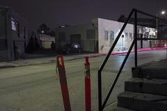 Tail lights (ADMurr) Tags: la eastside industrial wet street tail light bollard steps leica m240 35mm zeiss zm m0004359