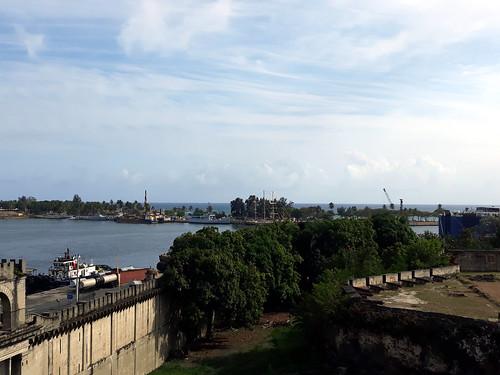 View from Fortaleza de Santo Domingo towards entrance to Rio Ozama