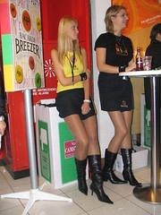 left or right? (themax2) Tags: motorshow boots comment miniskirt girl 2004 hostess pantyhose promotora legs bologna collant promoter nylon