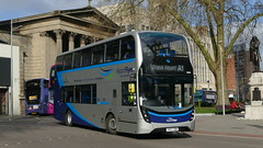 Where Are Your Guides, Mate? (londonbusexplorer) Tags: first west england scania n250ud adl enviro 400 mmc 36826 yp67xdb airport flyer a1 bristol bus station temple meads overpriced buses