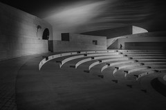 ...centrefortheunknown... (*ines_maria) Tags: flickrheroes fineart monochrome blackandwhite bw light beauty solitude lonely portugal lisboa lissabon amphitheatre architecture belem building center centre centro champalimaud charles contemporary correa desconhecido europe foundation fundacao futuristic investigacao investigation lisbon modern para research science scientific stage stone unknown white hope image