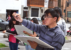 The drawing class (klauslang99) Tags: streetphotography klauslang art drawing class students cuenca ecuador people perspective