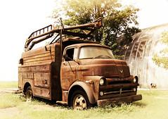 DSC_2347 copie (C&C52) Tags: paysage landscape camion épave vintage artnumérique