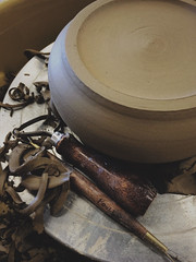untitled (blakeboulka) Tags: shavings tools trimming clay bowls wheel pottery ceramics finishing carving making art