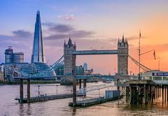 Beautiful London you are (aurlien.leroch) Tags: london uk england shard nikon sunset cityscape bridge skyline skyscrapers towerbridge thames