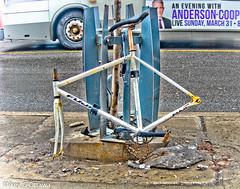 Stripped - Ottawa 03 19 (Mikey G Ottawa) Tags: mikeygottawa canada ontario ottawa street spring bankstreet bike bicycle fahrrad velo theft
