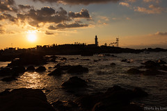 Nojimazaki lighthouse (t.kunikuni) Tags: 南房総市 日本 jp 野島崎 野島崎灯台 千葉県 千葉 灯台 日の出 朝日 海 太平洋 japan chiba minamiboso nojimazaki nojimazakilighthouse lighthouse dawn sunrise sun sea ocean pacificocean