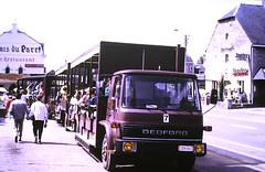 Slide 135-95 (Steve Guess) Tags: belgium belgique belgien belgië бельгия ardennes hansurlesse bedford lorry bus tk trailer toastrack reserve danimaux