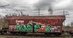 21_2019_01_16_Gelsenkirchen_Bismarck_6185_025_DB_mit_gem_Güterzug ➡️ Bottrop_Süd (ruhrpott.sprinter) Tags: ruhrpott sprinter deutschland germany allmangne nrw ruhrgebiet gelsenkirchen lokomotive locomotives eisenbahn railroad rail zug train reisezug passenger güter cargo freight fret bismarck bottropsüd ctd captrain db hctor hhpi 0632 1266 1232 1261 6152 6185 6187 6241 class66 vtgch rb42 hochspannungsmast kraftwerk herne dorsten dortmund logo natur outdoor graffiti