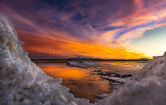 Ice stack sunset (1 of 1) (Jami Bollschweiler Photography) Tags: ice stack sunset great salt lake utah photographer photography lovely colorful