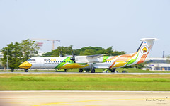 Nok Air HS-DQD Bombardier Dash 8 Q400 (Kan_Rattaphol) Tags: aircraft airplane airlines hsdqd nokair nokairlines dd vtbd dmk bom bombardier dash8 q400