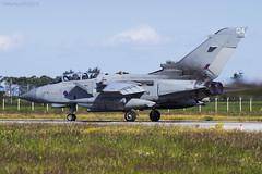 Royal Air Force, Tornado GR4A, ZG714 / 124. (M. Leith Photography) Tags: raf lossiemouth lossie aviation jet panavia tornado gr4 scotland scottish sunshine royal air force mark leith photography nikkor 70200vrii nikon airplane aircraft sky cockpit grass field