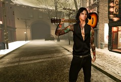 Con mi guitarra canto!!! LALAlalaLA (Sebastriano) Tags: the men jail event gild pants florna tattoo madame noir eyes secondlife sl
