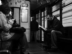 Zero Socialization (Ermanno Albano) Tags: street streetphotography tram milano milan blackwhite blacknwhite blackandwhite