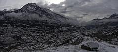 Panorama L'Argentière_DxO (Artiste/Photo) Tags: d850 france french hiver nikon paysage arbre ciel city cloud image landscape montagne nature nuage picture snow view ville vue