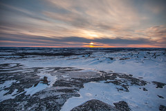Canada |  Kuujjuaq • Sunset over Inuit Lands (Cyrielle Beaubois) Tags: 2019 canada canoneos5dmarkii kuujjuaq north nunavik québec ungavabay february winter cyriellebeaubois ice snow toundra landscape blue travel sunset hills mountains rocks canonef24105mmf4lisusm inuitland