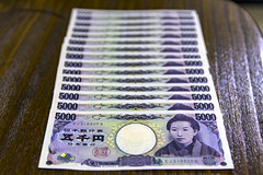 5000 Yens (Synghan) Tags: money yen japan japanese japaneseyen japanesemoney currency bank banknote 1000 5000 exchange change foreignmoney foreigncurrency photography horizontal indoor colourimage fragility freshness nopeople foregroundfocus adjustment interesting awe wonder fulllength depthoffield vivid purchase sell paper canon eos80d 80d sigma 1750mm f28 일본 엔화 일본엔화 일본돈