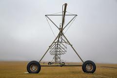 Farm Geometry (milfodd) Tags: february 2019 fog foggy potdmarch10th2019 irrigationequipment