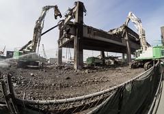 Fisheye view of demolition (WSDOT) Tags: seattle gp construction wsdot alaskan way viaduct replacement demolition 2019