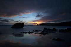 port blanc sunset (poypepegoud) Tags: quiberon percho bretagne morbihan bzh sunset cloud mer rocher nuage sea plage beach coucher soleil