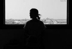 Contraluz (martin.miro) Tags: girl woman backlighting silhouette profile shape window shadow blackandwhite monochromatic architecture inside bangkok thailand light shades gray nuances black white people women monochrome city portrait backlit backlight
