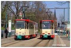 Tram Frankfurt (O) - 2019-05 (olherfoto) Tags: bahn tram tramcar tramway villamos strasenbahn frankfurtoder tatra tatratram kt4d