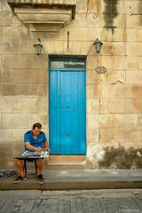 (jsrice00) Tags: cuba painter streetphotography door blue