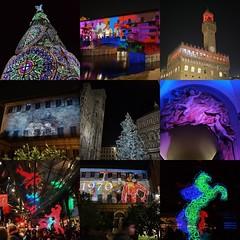 Firenze F-Light Natale 2018 (giagir) Tags: mosaico natale light christmaslight mosaik firenze