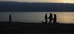 (Adisla) Tags: olympus penf mzuiko 30mm f45 macro mar paisaje humano amanece