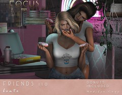 Friends 110 ([ Focus Poses ]) Tags: cosmopolitan second life event donuts bento poses
