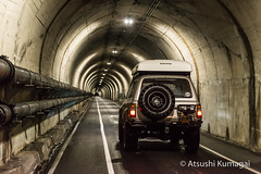 LX450 in the Baker Barry Tunnel (kumagai.atsushi) Tags: fortbarry fortbaker bakerbarrytunnel bakerbarry barry baker fort lx450 lexus landcruiser land cruiser toyota tunnel decay overland rooftoptent roof top tent ikamper mall crawler mallcrawler