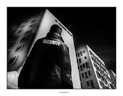 No admittance !! (michel di Méglio) Tags: bw monochrome ville city noiretblanc silverefex securité olympus em10 building marseille urban urbain