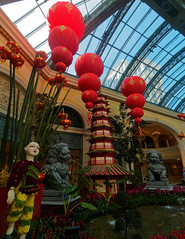 Year of the pig decorations at the Bellagio flower garden for Chinese New Year (wirehead) Tags: em5mk2 918mm vacation travel newyear bellagio