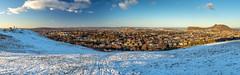 Edinburgh From Blackford Hill (roseysnapper) Tags: blackford hill olympus m zuiko 1442 mm f3556 omd em10ii circular polarizer edinburgh maisie panorama family snow
