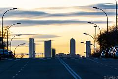 Torres de Madrid (Dawlad Ast) Tags: barajas rascacielos skyscrappers edificios atardecer sunset cielo calle ciudad madrid