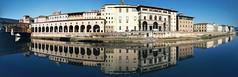 Firenze_extra-PANO (Francesco_Finocchiaro) Tags: firenze toscana italia arno fiume panoramica giorno urban lendascape uffizi luce specchio