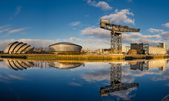 Clyde Panorama 2 (rsthomas9) Tags: glasgow clyde river panorama scotland hydro armadillo crane sony a7 cosina 1935mm wideangle