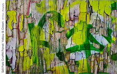 Sk8 Park Graffiti Panel: Yellow & Green (jwvraets) Tags: oneofthefeaturesofthesk8parkingrimsby ontarioisagroupofsmallbillboardstylepanelsspecificallyintendedtohosttheartisticexpressionsofthosevisitingthesiteasaresult graffitiisencouragedinplacesthatareacceptablefurthermore periodiccleanupofthepanelsbytownstaffensuresregularrefreshmentofthesubjectmatterthisimagewastakeninmidfebruary thedeadofwinter sothesnowcoveredparkwasnotinregularuseandhadnotbeenforseveralmonthsthelastroundofpaintinghadbeenignored likelywaitingforspringtogetarefresh withtheconsequencebeingthemultiplelayersofpainthadweatheredandflakedoffleavingcolourfulabstractswhenviewedupclosethissectionfeaturesandareawithyellowandgreenpatchesjwdatetaken20190221takenusingahandheldniko daylightwb iso100 programmode f80 1250secppinfreeopensourcerawtherapeefromnikonrawnefsourcefilesetfinalimagewidthto9000px adjusttonecurve2inparametricmodebydarkeningthe'darks'and'lights'slightly enablehdrtonemappingandapplyalightamountofhdr enableshadowshighlightsandrecoverhighlightsjustenoughthatthe'white'areasofpaintshowdetailtexture boostcontrastandchromaticityinlabmode setwhitebalancetodaylight5300k boostvibrance sharpenedgesonly saveppinfreeopensourcegimpincreaseoverallcontrast finetuneoveralltonalityusingthetonecurvestool sharpen save scaleimageto6000pxwide sharpenslightly addfineblackandwhiteframe addbarandtextonleft scaleimageto2048pxwideforpostingonline shapenslightly savetagsgraffiti yellow green billboard weathered flaked paint grain grimsby sk8park closeup abstract opensource rawtherapee gimp nikon d7100 fsdxnikkor1224mm140