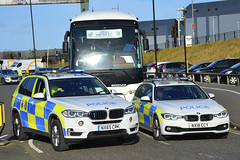 NX65 CRK & NX18 CCY (S11 AUN) Tags: cleveland police bmw x5 330d estate anpr armed response car arv traffic rpu roads policing unit 999 emergency vehicle nx65crk nx18ccy