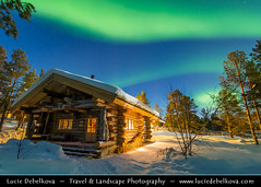 Norway - Finnmark - North of the Arctic Circle - Traditional wooden house under Northern Lights (© Lucie Debelkova / www.luciedebelkova.com) Tags: aurora northernlights arcticcircle auroraborealis karasjok kárášjohka finnmark norway norwegian norge noreg nynorsk kingdomofnorway nordic scandinavia scandinavianpeninsula nordiccountry europe northern travel tourism vacation trip scenery scenic breathtaking overlook outlook vista view exploration wonderful fantastic awesome stunning beautiful incredible mood magic light atmosphere outdoors wildnerness winter snow house forest tree wood traditional