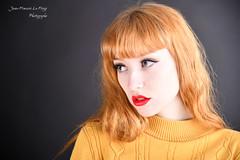 LEO_0163 (jeanfrancoislaforge) Tags: portrait beauté beauty yellow jaune leonamoon leona nikon d850 studio elinchrom iso64 lips lèvres rouge red redhead rousse ginger
