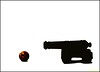 Misfire (-Brian Blair-) Tags: minimal silhouette cannon naval shot metal ball navy
