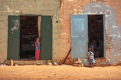 In & Out (s_andreja) Tags: mauritania chinguetti store door colourful street people dwwg