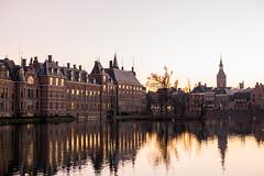 The Hague (romanboed) Tags: leica m 240 summilux 50 europe netherlands holland hague haag buitenhof dusk evening winter reflection hofvijver town city street cityscape