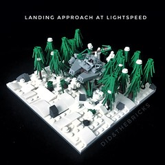 Landing approach at lightspeed (did b) Tags: falcon milleniumfalcon brick toy art creation starwars legomoc lego
