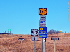 US-50 & K-177 Junction, 5 Jan 2019 (photography.by.ROEVER) Tags: kansas flinthills january 2019 january2019 roadtrip road highway drive driving driver driverpic ontheroad us50 k177 highway50 highway177 statehighway ushighway ushighway50 scenicbyway flinthillsscenicbyway americasbyways sign signs shieldsign shieldsigns interchange junction ramp chasecounty usa