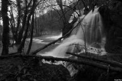 Cascade de droite des Planches Prêt d'Arbois - Jura (francky25) Tags: cascade de droite des planches prêt darbois jura noir et blanc franchecomté