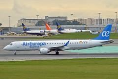 Air Europa Express EC-KYO Embraer ERJ-195LR (ERJ-190-200 LR) cn/19000276 opby Aeronova @ LPPT / LIS 08-02-2019 (Nabil Molinari Photography) Tags: air europa express eckyo embraer erj195lr erj190200 lr cn19000276 opby aeronova lppt lis 08022019